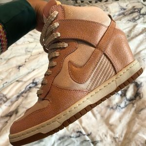 Nike Dunk Sky Hi in Light Pink Cream Shimmer